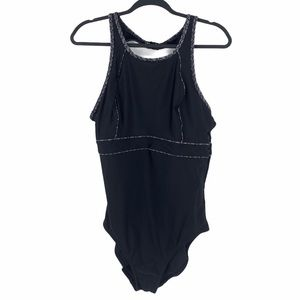 Krista One Piece Bathing Suit Black